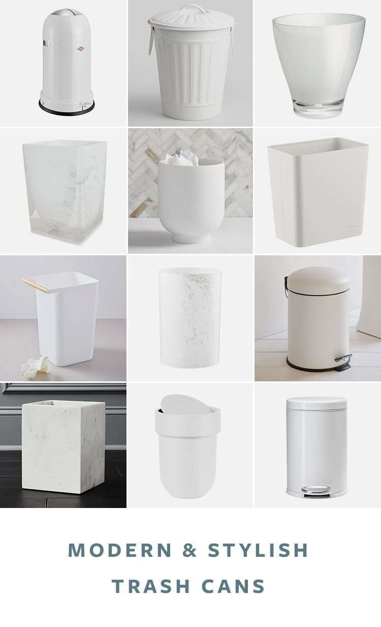 36 Stylish Modern Trash Cans For Your Kitchen Or Bathroom Interior Design Kitchen Rustic Room Trash Recycling Bin