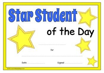 an eye catching printable set of star student certificates a4 in size