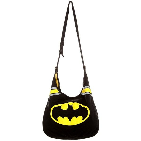 Dc Comics Batman Hobo Bag Hot Topic Liked On Polyvore Featuring Bags Handbags