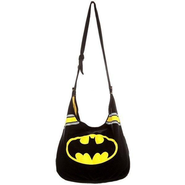 Dc Comics Batman Hobo Bag Hot Topic Liked On Polyvore Featuring Bags Handbags