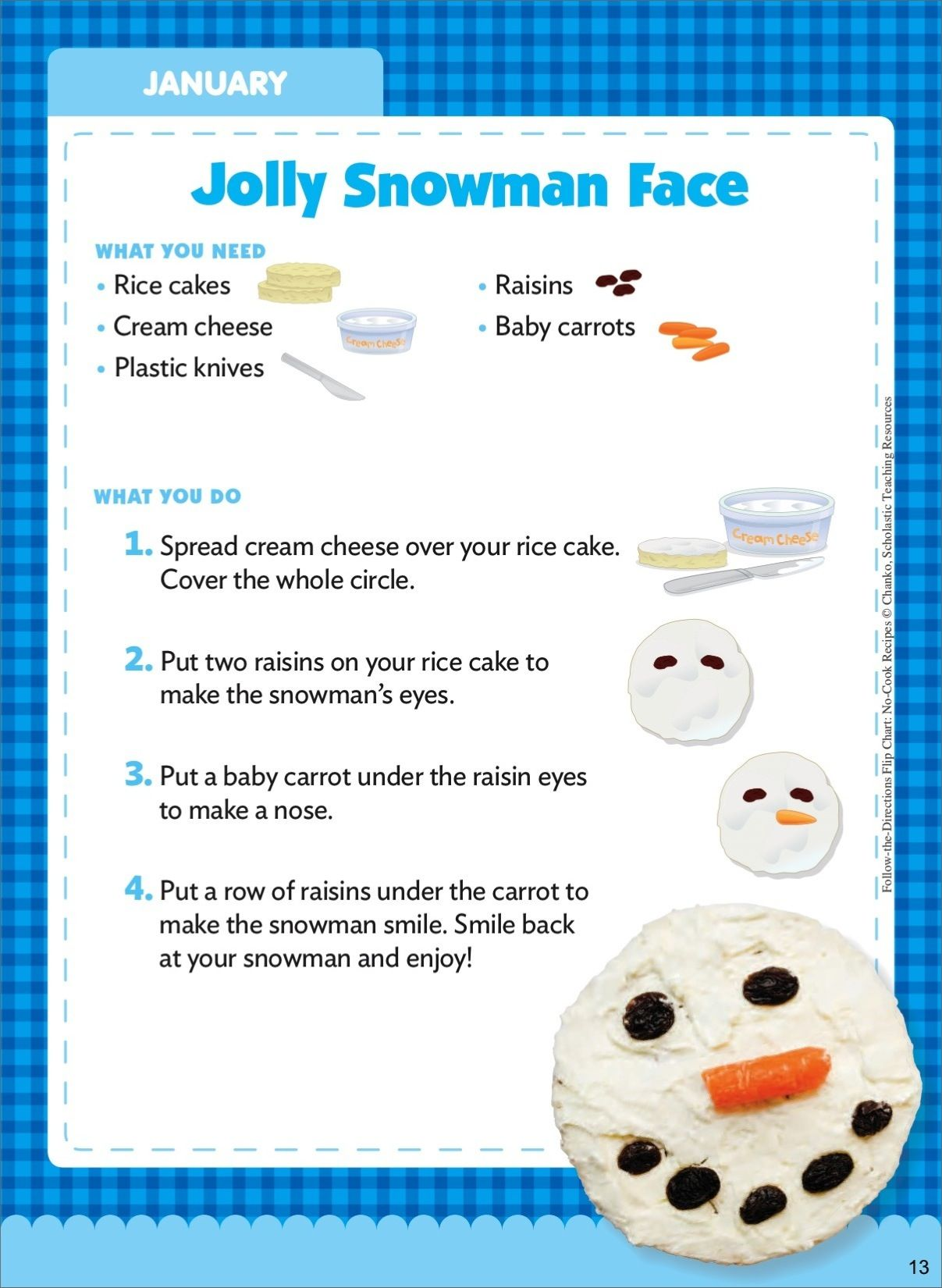Jolly Snowman Face January Follow The Directions No
