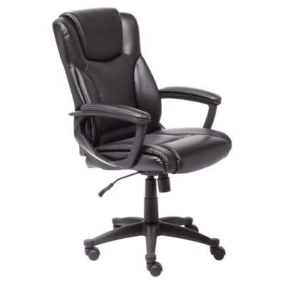 Serta Supple Bonded Leather Executive Office Chair   Black   43672
