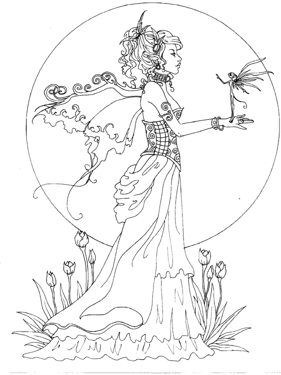 Amy Brown fairy coloring book Fairy