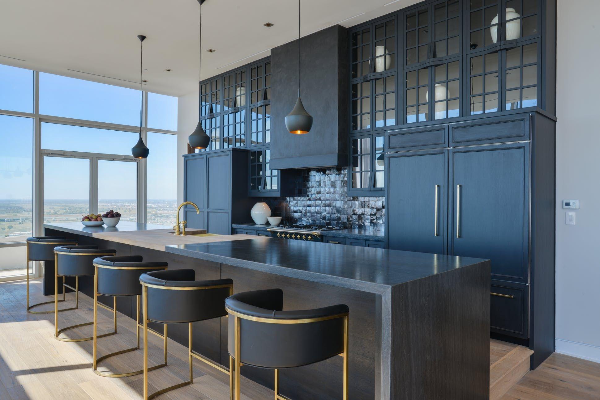 Luxe Kitchen Designs Featuring Waterworks Chairish Blog Interior Design Kitchen Contemporary Black Kitchen Contemporary Kitchen
