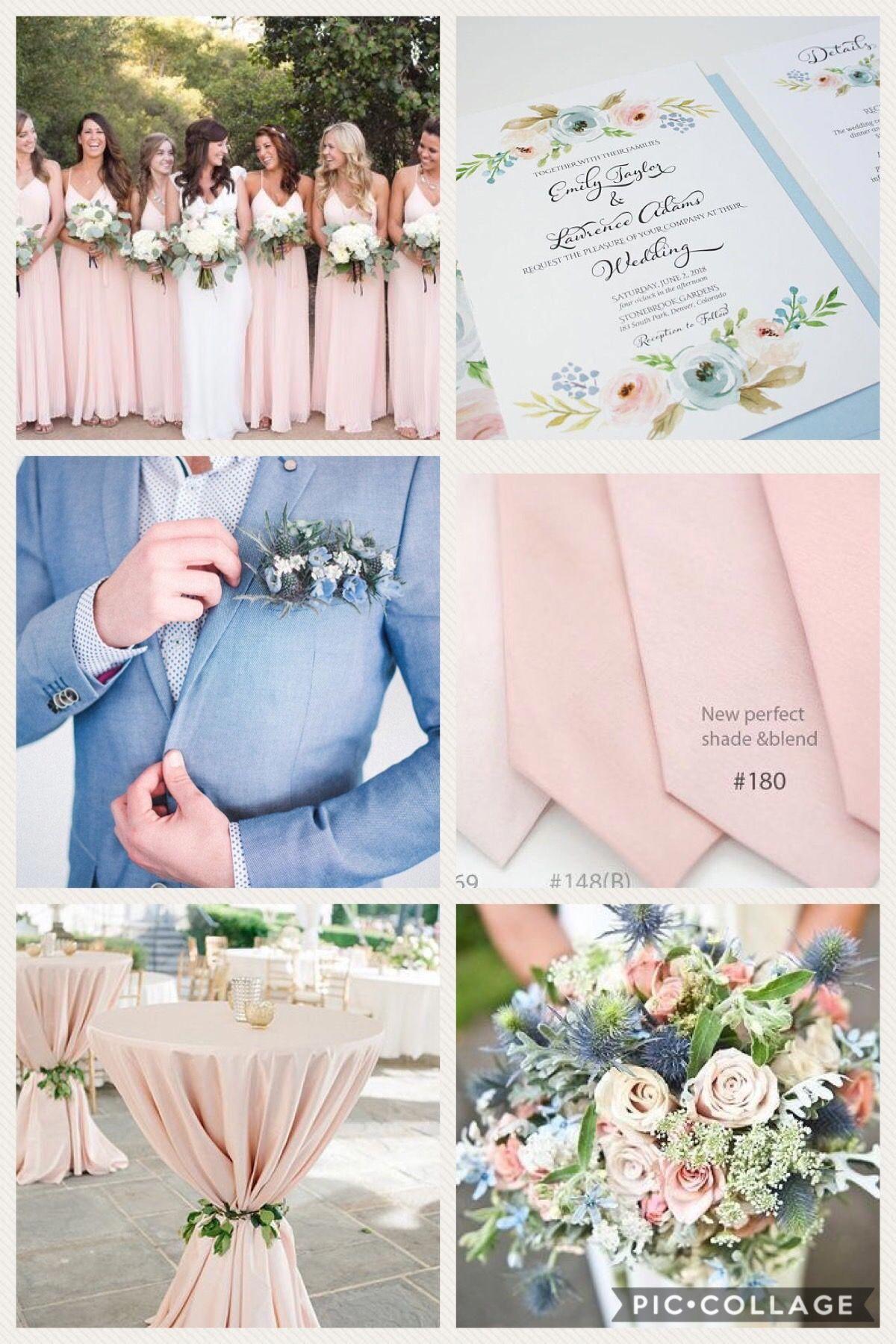 Dusty Blue Blush And Green Wedding Colors Elegant Spring Wedding Ideas Pink Wedding Theme Summer Wedding Colors