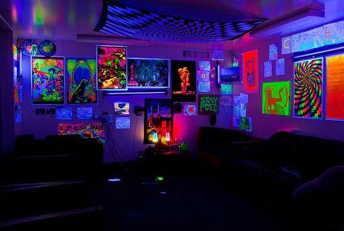 Partyy Neon Room Black Lights Bedroom Black Light Room