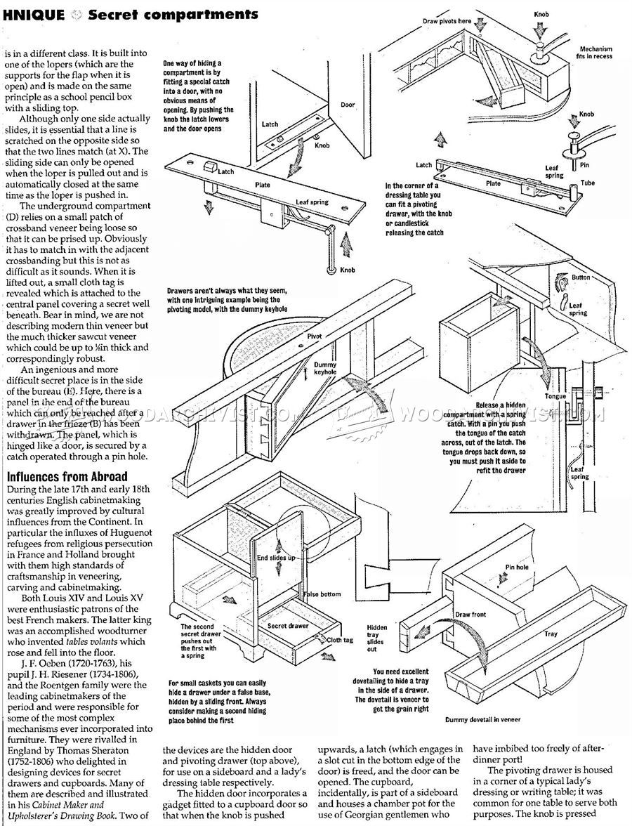 Secret Compartment Furniture Tajnik Derevoobrabotka Mebel