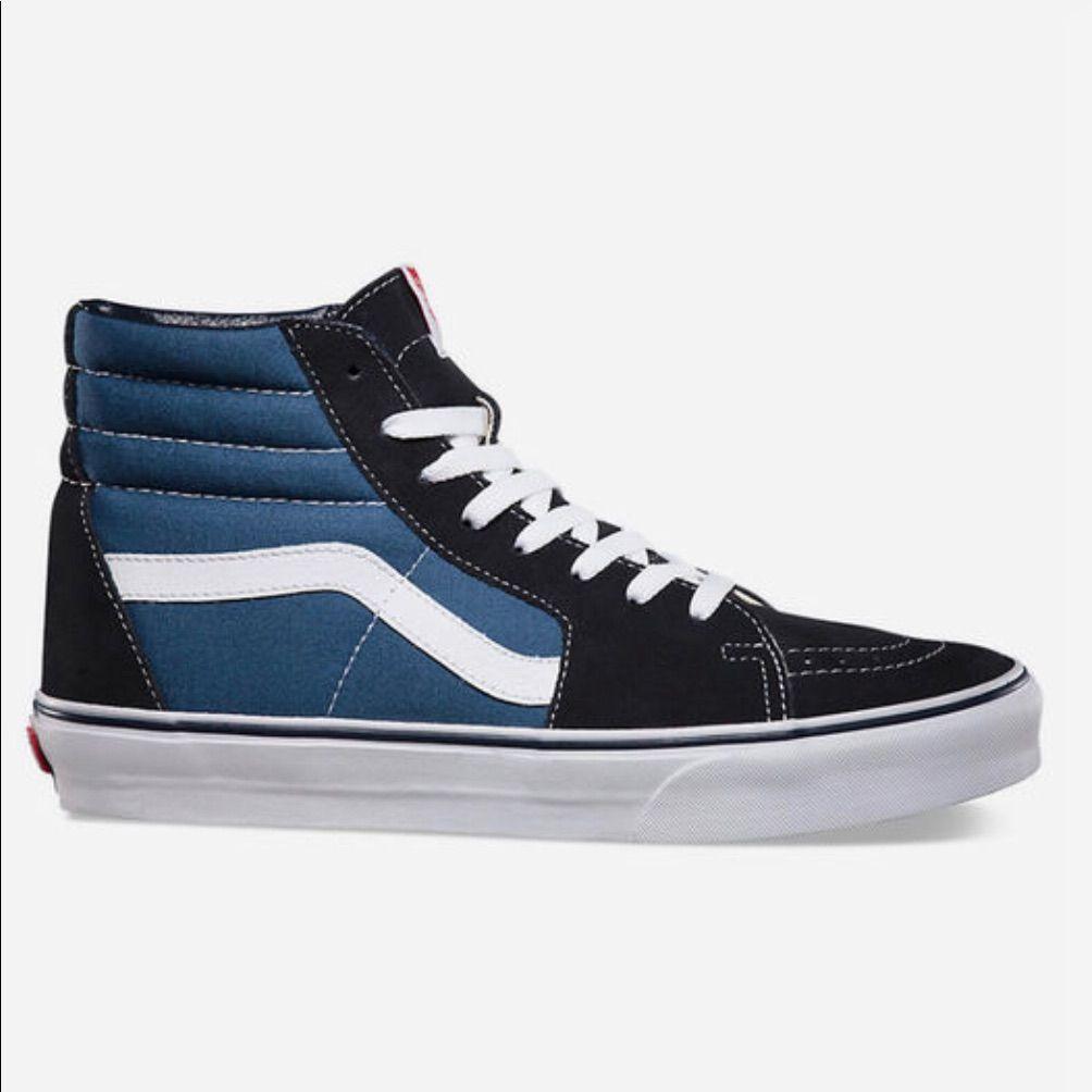 Vans Shoes | Navy Blue High Top Vans Womens 8 Barely Worn