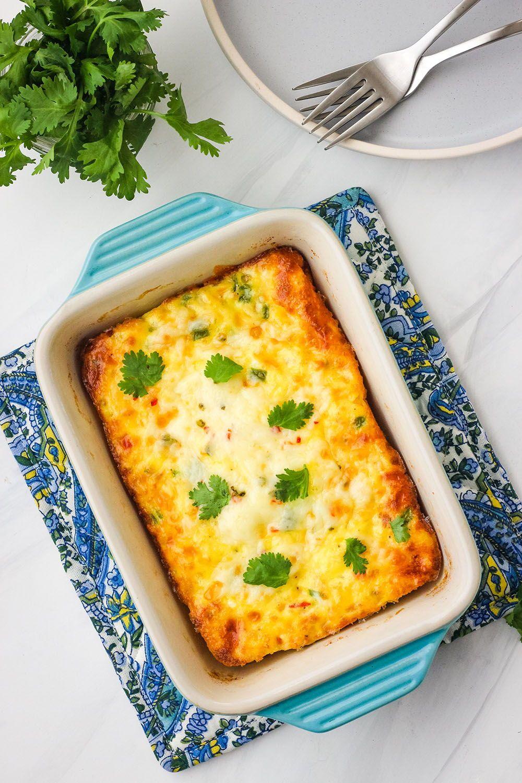 Toaster Oven Egg Bake For Two Recipe Eggs In Oven Baked Eggs Recipe Vegetarian Breakfast Casserole