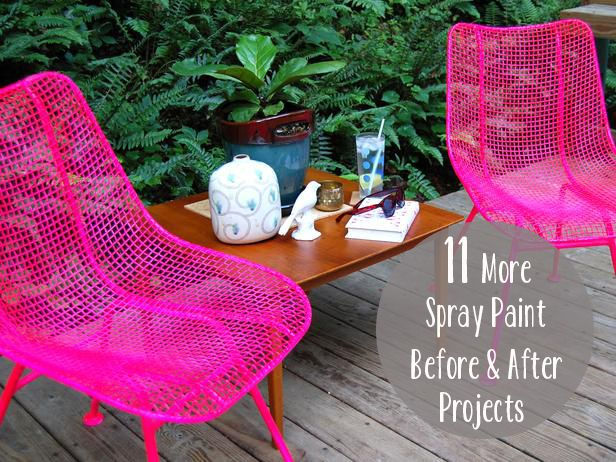 From Patio Furniture To Succulents Spray Paint Can Go A Long Way