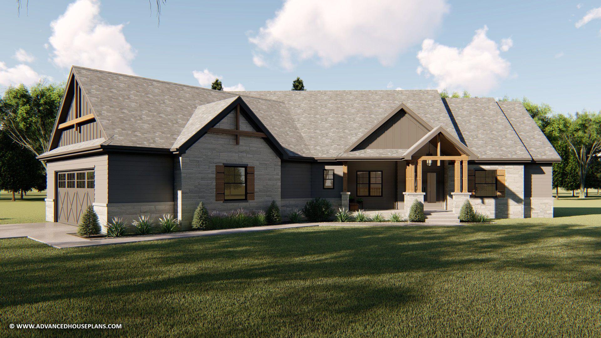 1 Story Craftsman House Plan Marietta Craftsman House Plans Craftsman Style House Plans Craftsman House