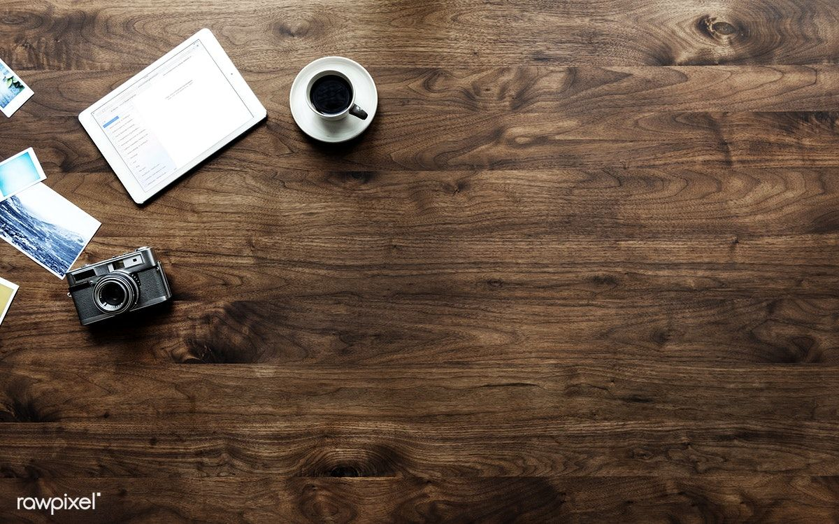 Aerial View Of Wooden Table And Photography Hobby Concept Free