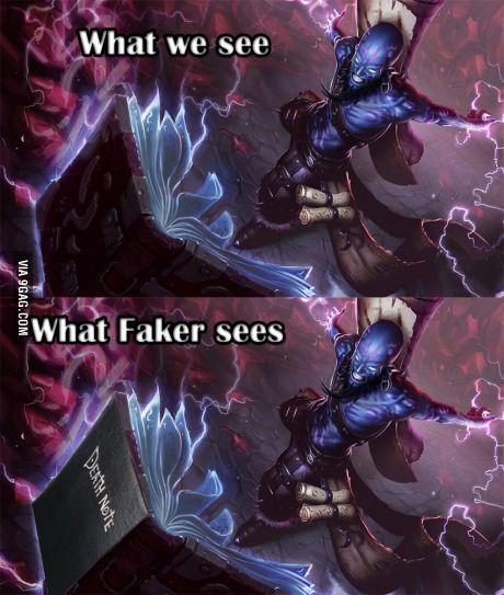 Faker League Of Legends Memes Lol League Of Legends League Of Legends