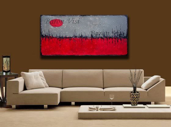 abstract painting Textured impasto large canvas by baronvisi, £105.00