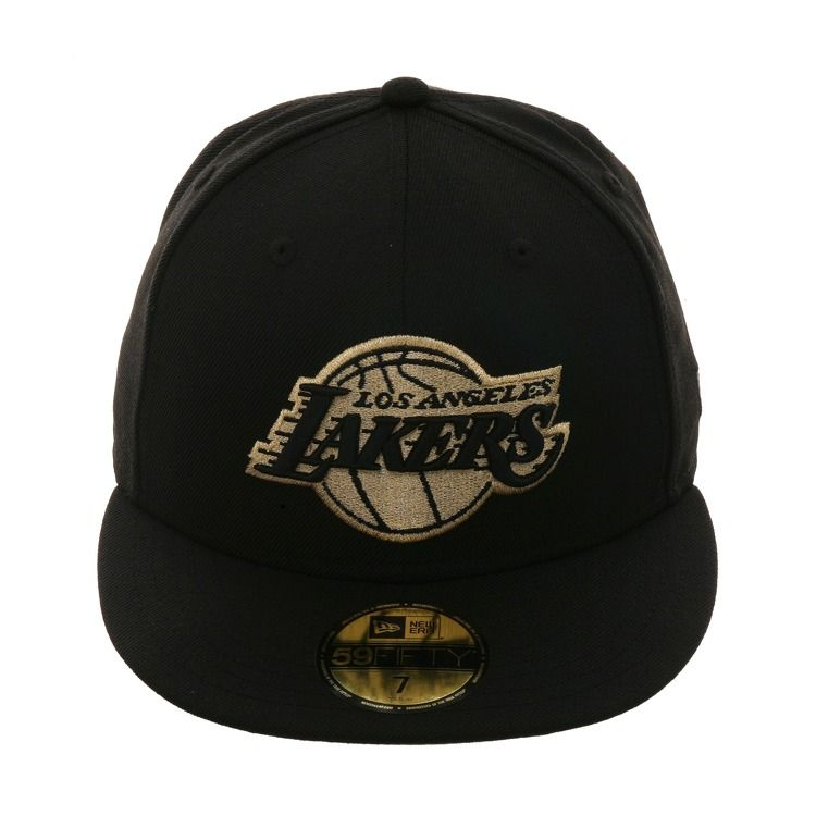 brand new 87ef0 9c54d Exclusive New Era 59Fifty Los Angeles Lakers Hat - Black, Metallic Gold,    39.99