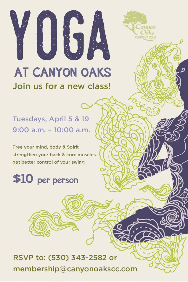 Yoga Class Event Flyer Poster Template  Flyer Outline