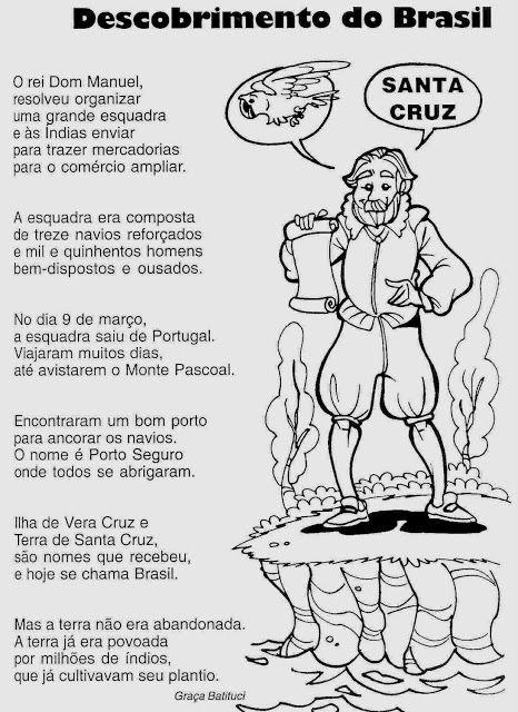 Descobrimento Do Brasil Para Criancas Desenhos Para Imprimir E