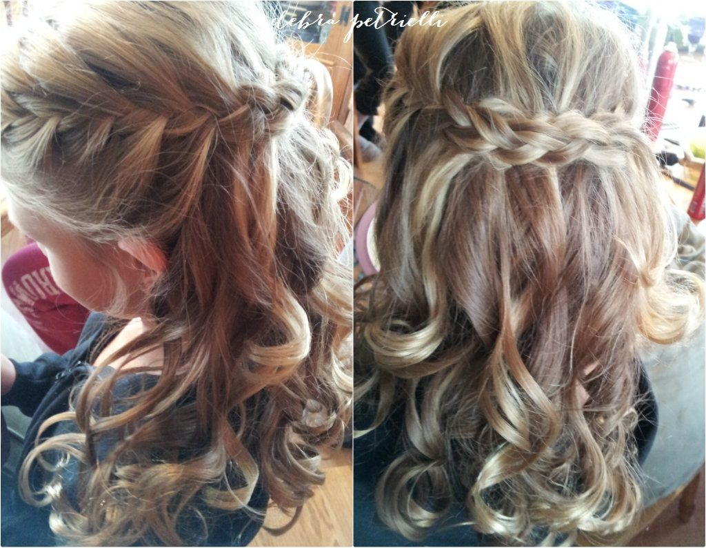 Peachy 1000 Images About Wedding Flower Girl Hairstyles On Pinterest Hairstyle Inspiration Daily Dogsangcom
