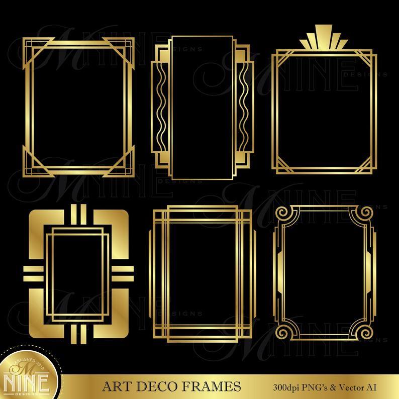 Image Result For Art Deco Frame Template Art Deco Borders Art Deco Art Nouveau