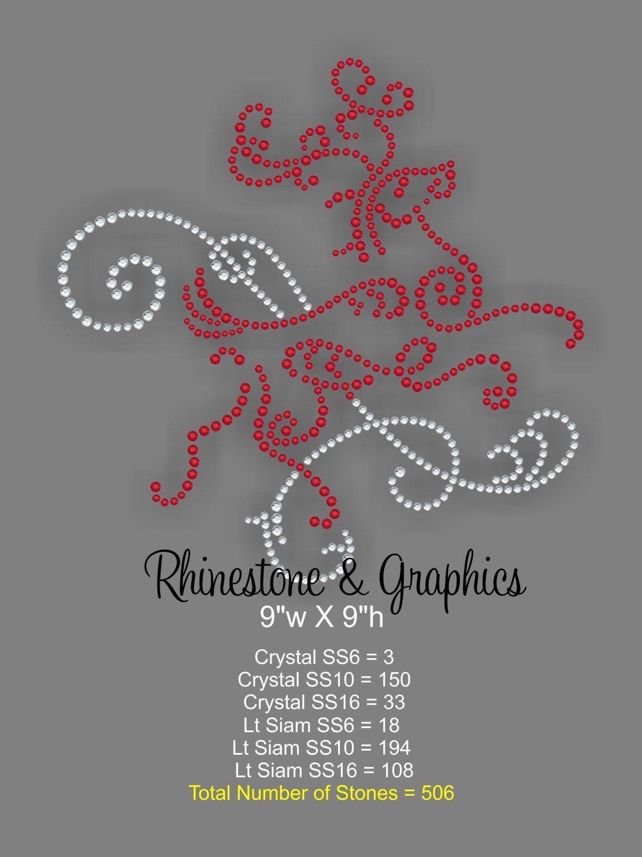 Reindeer Rhinestone Pattern Instant Download SVG EPS DXF