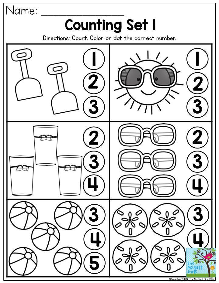 Vacation Worksheets For Kindergarten