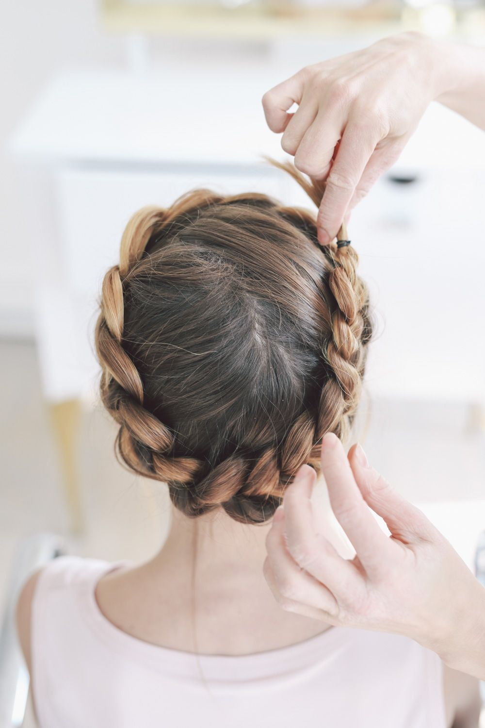 jennie kay beauty crown braid tutorial prosecco and plaid