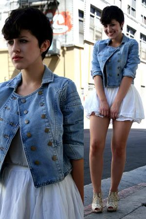 1000  images about denim jackets on Pinterest | Models Cropped