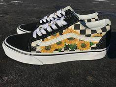 Sunflower Vans Old Skool Shoes   Custom Vans Shoes   Custom
