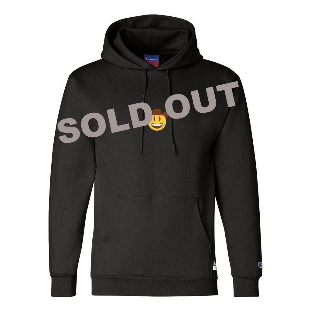 Champion X Antonio Garza Cowboy Emoji Hoodie Hoodies Black Champion Hoodie Custom Clothes [ 1024 x 1024 Pixel ]