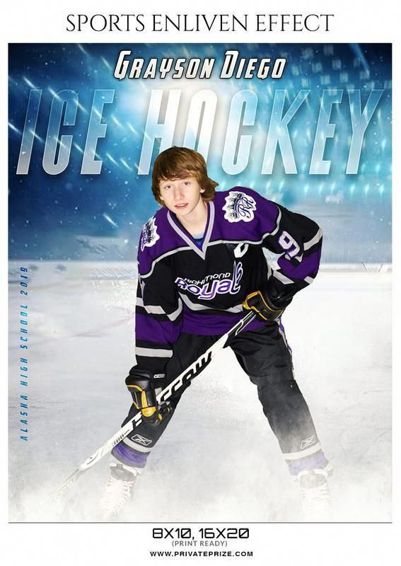 Grayson Diago - Ice Hockey Sports Enliven Effects Photography Template