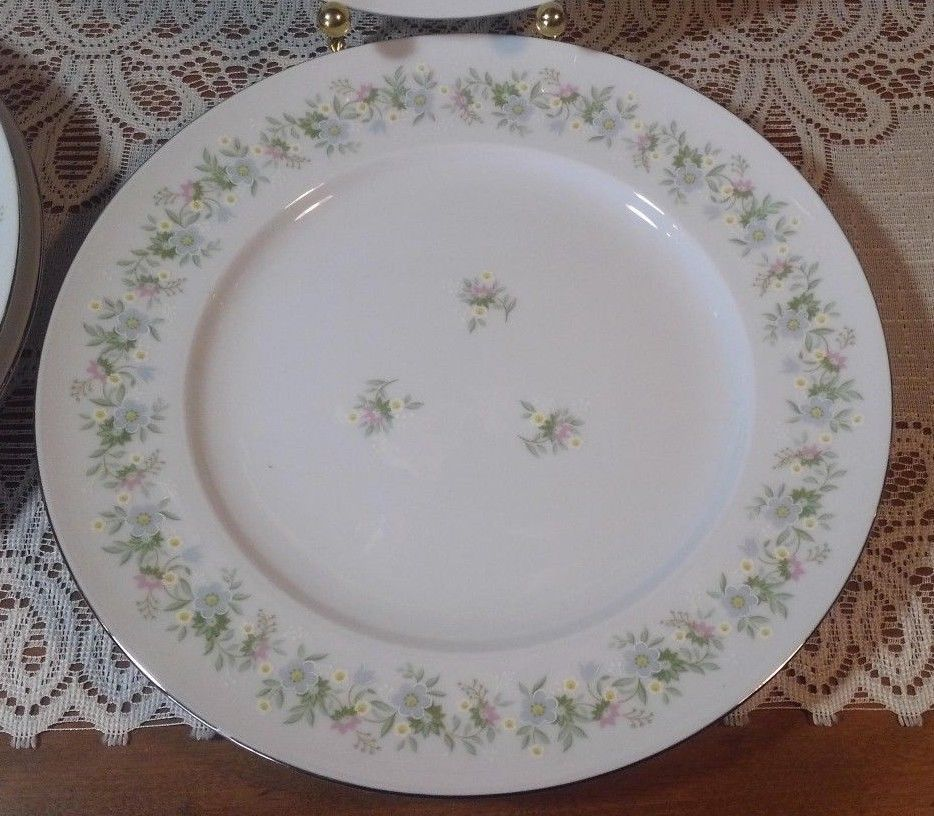 Replacement China. 4-Johann Haviland Forever Spring Dinner Plates. Platinum Trim #JohannHaviland & Replacement China. 4-Johann Haviland Forever Spring Dinner Plates ...