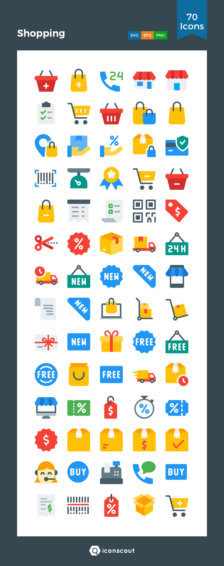 Download Shopping Icon pack Available in SVG, PNG, EPS