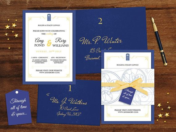 Doctor Who Wedding Invitation Suite By Chameleon Weddings On Etsy!  Printable PDF For You To