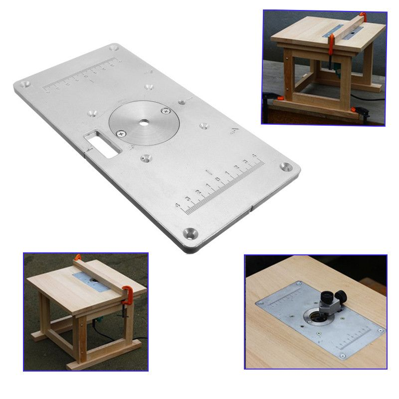 Excellent quality aluminum router table insert plate for popular excellent quality aluminum router table insert plate for popular trimmers routers diy woodworking in keyboard keysfo Choice Image
