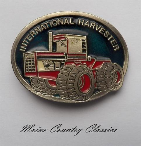 International Harvester logo belt metal buckle NEW