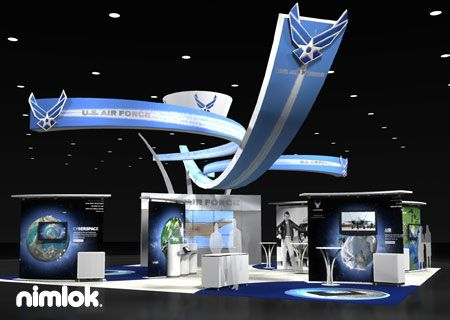 Nimlok Portable Exhibition Stand : Nimlok builds and designs custom and portable trade show booths and