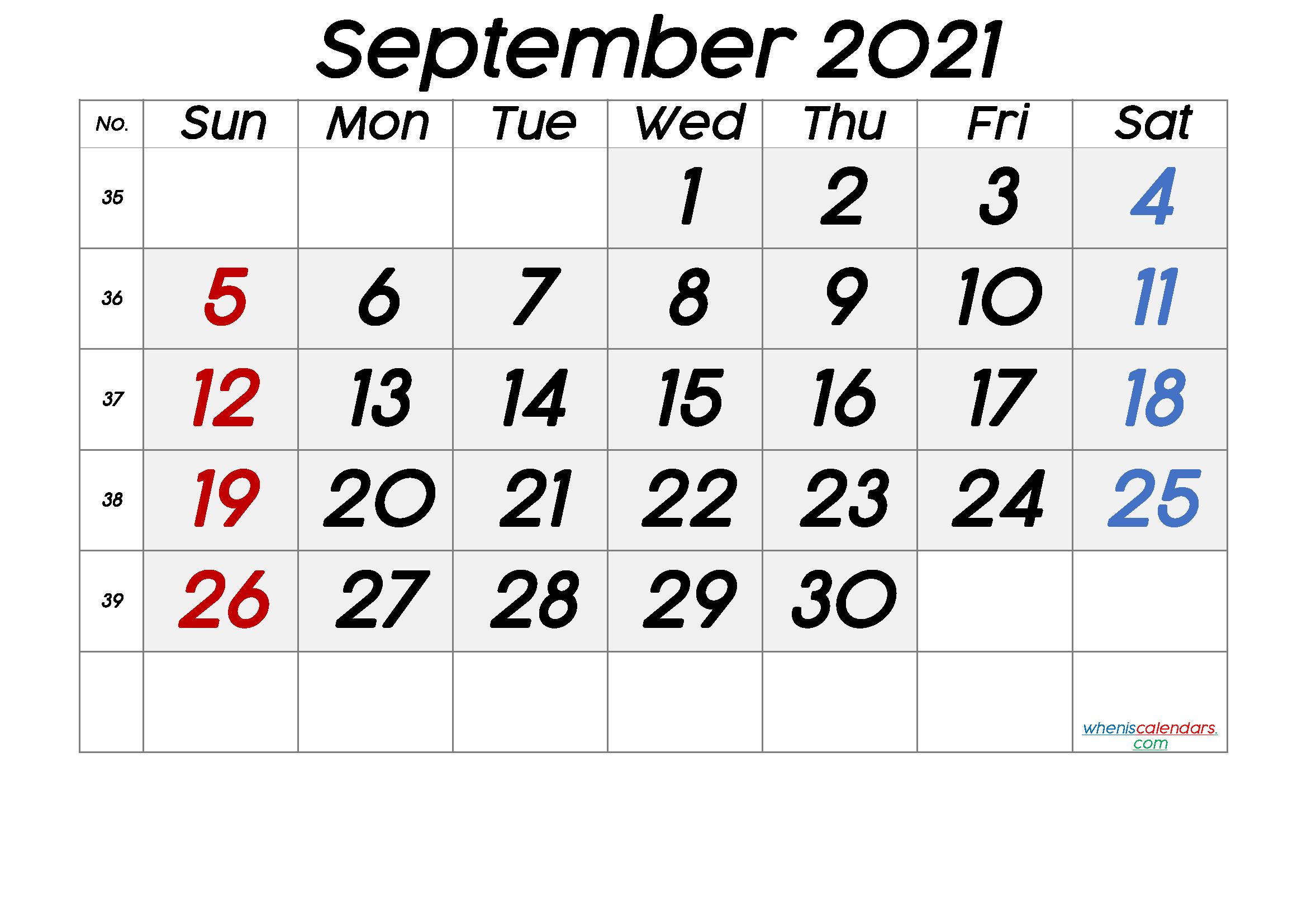 Free Printable September 2021 Calendar Premium In 2020 June Calendar Printable Calendar With Week Numbers Printable Calendar July