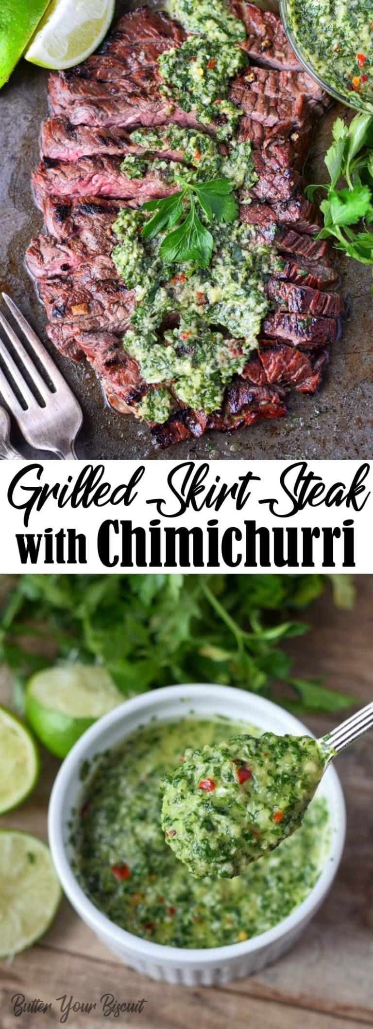 Skirt Steak with Chimichurri Recipe-Butter Your Biscuit
