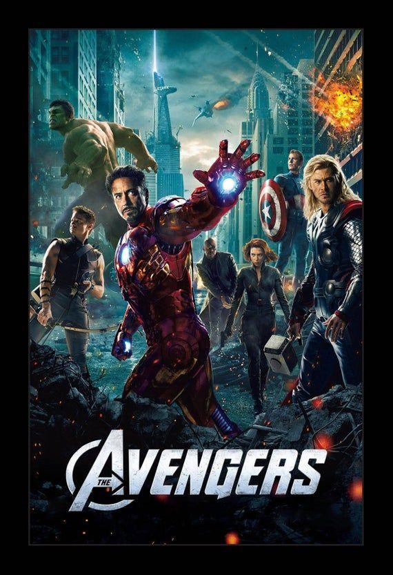 Avengers 11x17 Framed Movie Poster Etsy In 2020 Avengers Movie Posters Avengers Movies Avengers 2012