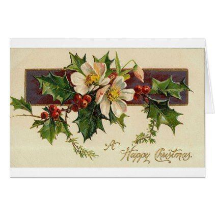 Beautiful Victorian Vintage Holidays Christmas Holiday Card Zazzle Com Victorian Christmas Cards Vintage Christmas Cards Victorian Christmas