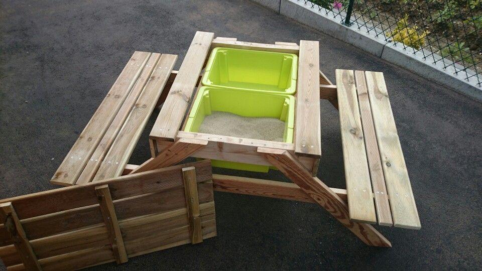Table De Pique Nique Et De Loisir Pour Enfants Table De Pique Nique Table De Jeux Enfant Plan De Travail Bois