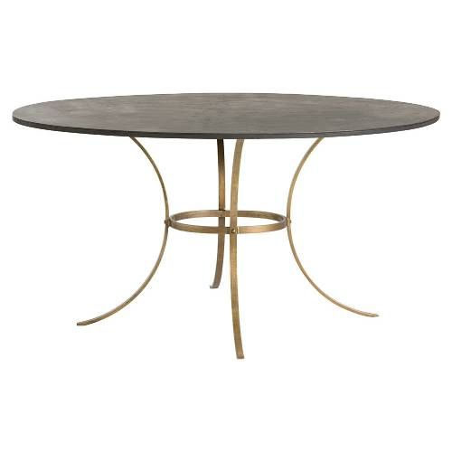 Arteriors 6164 Harlow Dining Table Brass Dining Table