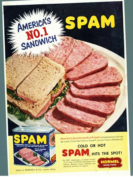 Cold Or Hot SPAM Hits The Spot SPAMbrand Vintage Advertising