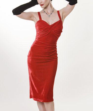 Loving this Red Hot Glam Dress - Women & Plus on #zulily! #zulilyfinds