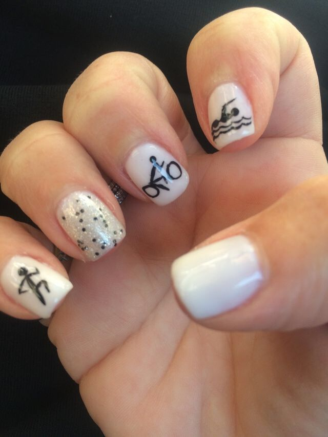Triathlon Nail Art ! | Triathlete in Training | Pinterest