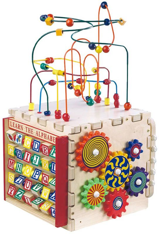 Exceptional Activity Wooden Play Cube