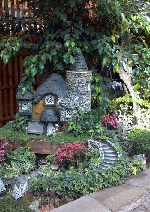 casas de piedra en miniatura para hacer su jardn magnfico