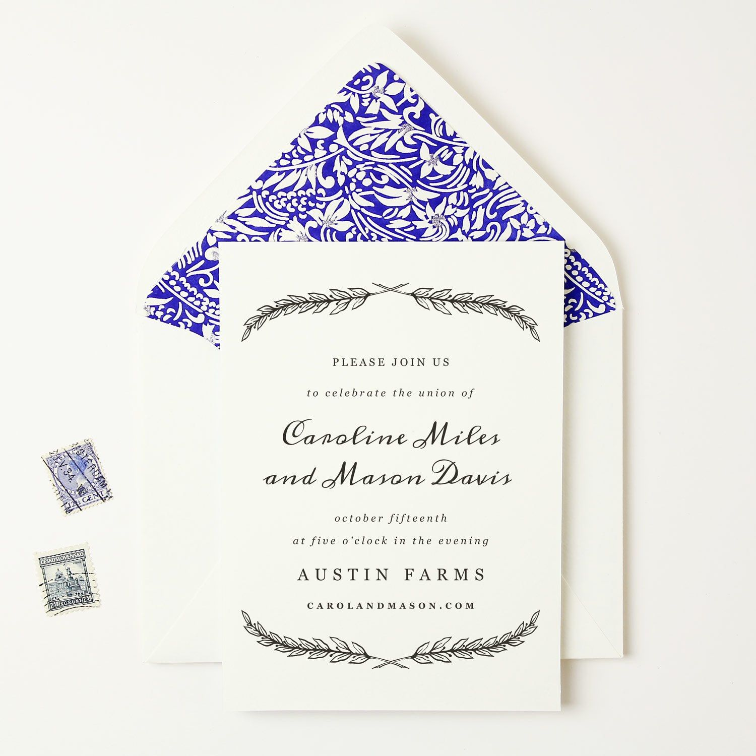 Places To Print Wedding Invitations: Our Quill Printable Wedding Invitation Template Looks