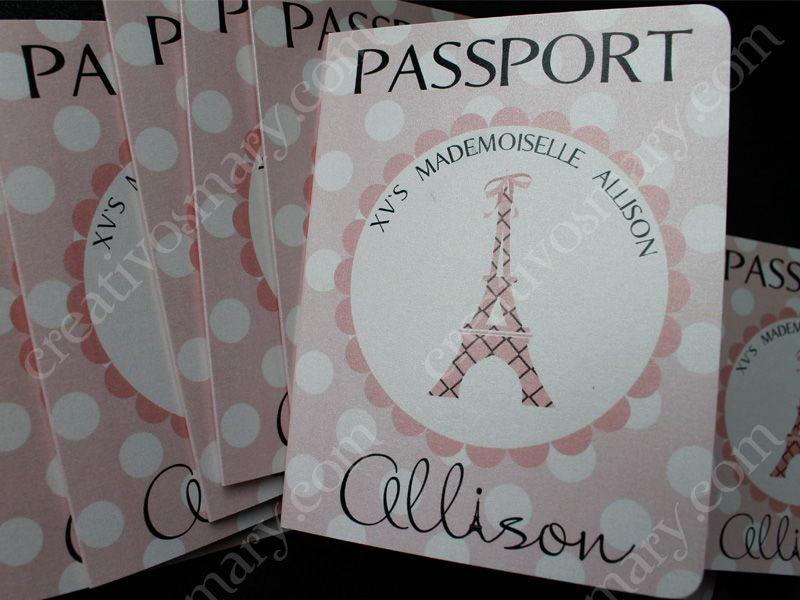 Ayuda Con Fiesta Tematica Paris Para Xv Años Invitaciones