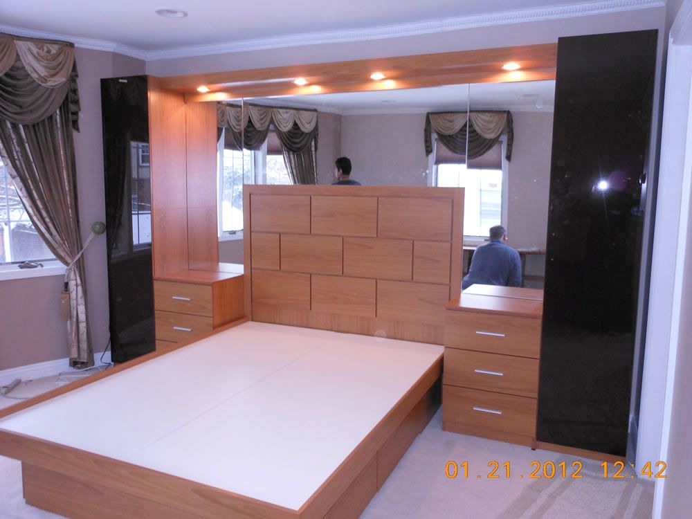 Pier Wall Bed And Nightstands In Queens NY Wall Beds - Bedroom furniture queens ny